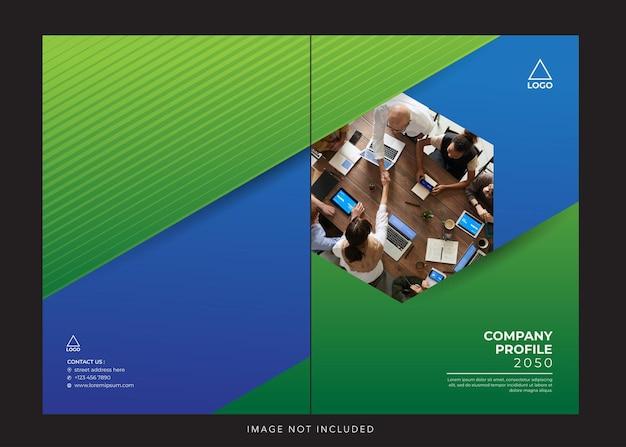 Profilo aziendale aziendale copertina blu verde
