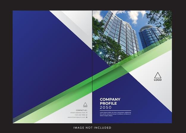 Profilo aziendale aziendale bluecover