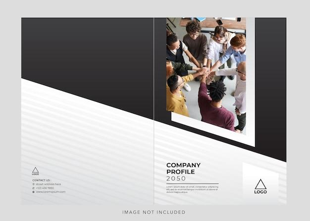 Copertina del profilo aziendale aziendale Vettore Premium