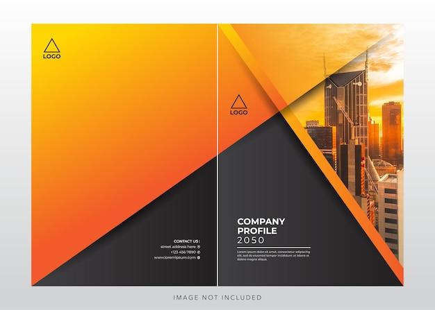 Copertina del design del profilo aziendale aziendale