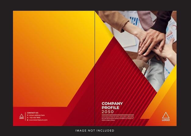 Profilo aziendale aziendale copertina arancione rossa