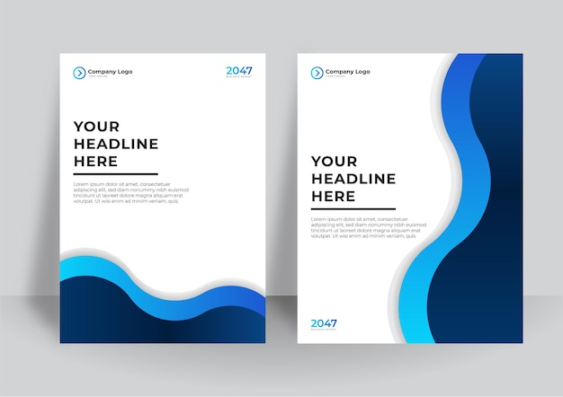 Progettazione di copertina aziendale o sfondo del modello di brochure per il design aziendale. modello di layout moderno volantino aziendale in formato a4. relazione annuale di progettazione della copertina con elemento geometrico astratto