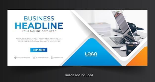 Modello di copertina o banner web aziendale