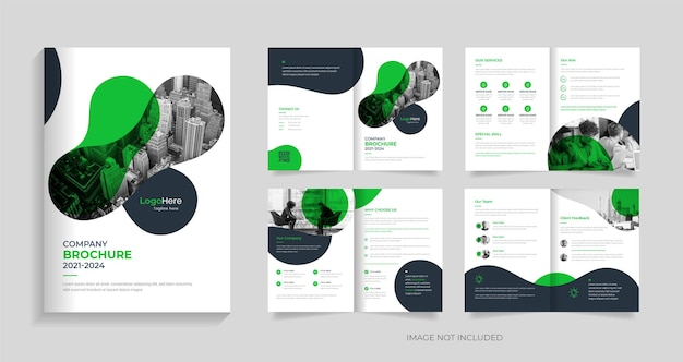 Modello di brochure creativa aziendale design forme creative vettore premium