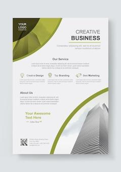 Modello di progettazione di copertina aziendale creativo aziendale corporate