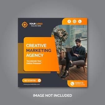 Progettazione di post per la promozione del marketing aziendale e digitale o banner sui social media