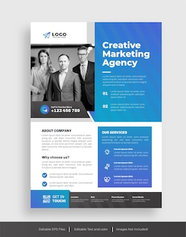 Modello di volantino aziendale o agenzia creativa