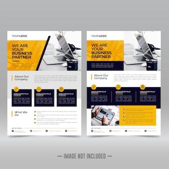 Modello di progettazione volantino aziendale