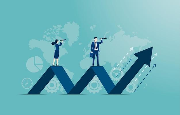 Concetto di governo societario. leadership aziendale, capacità di gestione, piano di formazione alla leadership e raggiungimento del successo