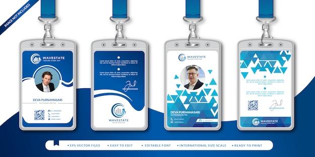 Modello di progettazione di carta d'identità aziendale Vettore Premium