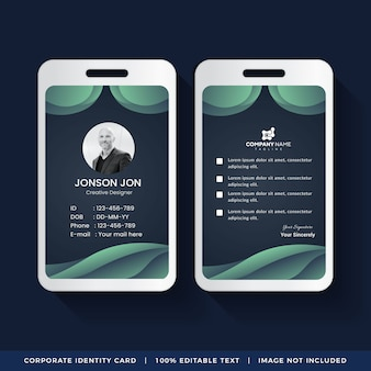 Identificazione aziendale card design