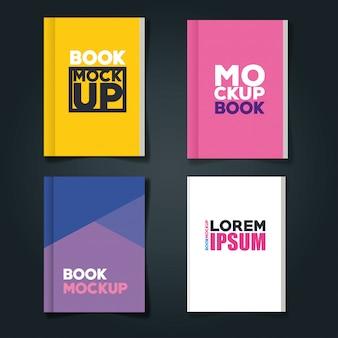 Marchio di identità aziendale, con set di libri