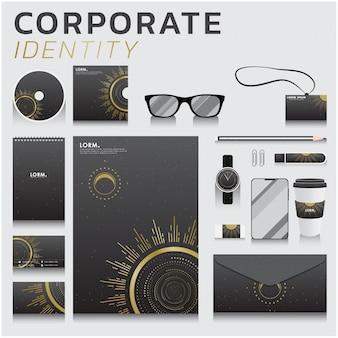 Identità aziendale per il design aziendale e di marketing