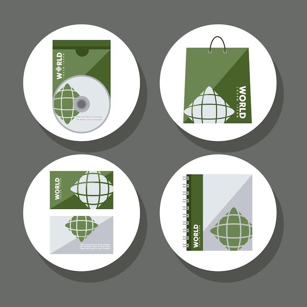 Icone di identità aziendale