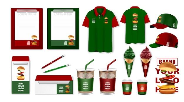 Set di modelli di identità aziendale design del marchio mockup di cancelleria aziendale