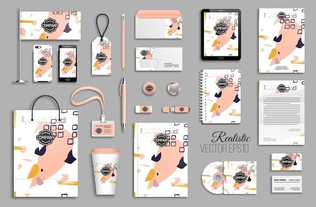 Set di modelli di identità aziendale. cancelleria aziendale. design del marchio.