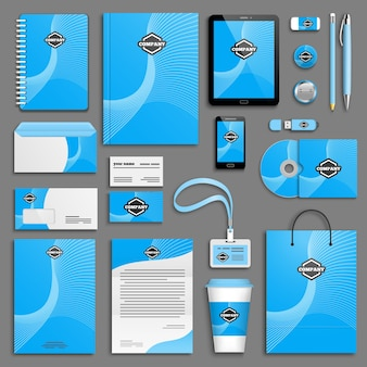 Set di modelli di identità aziendale.