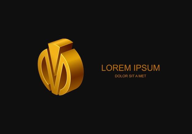 Logotipo aziendale, idea logo aziendale stilizzato astratto,