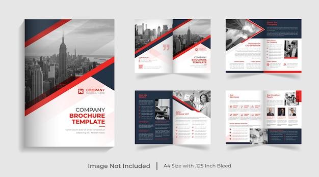 Modello di brochure aziendale moderno bifold e design del rapporto annuale del profilo aziendale