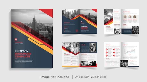 Modello di brochure aziendale moderno bifold profilo aziendale progettazione del rapporto annuale
