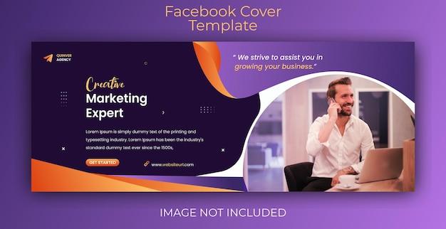 Modello di copertina di facebook e banner web per la promozione del marketing digitale aziendale moderno