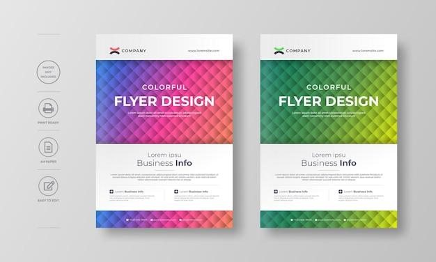 Modello di design aziendale moderno flyer