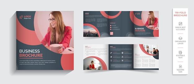 Corporate moderno professionale bifold brochure profilo aziendale design