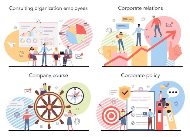 Set di organizzazione aziendale