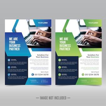 Poster aziendale, modello di progettazione flyer