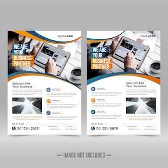 Modello di progettazione volantino poster aziendale