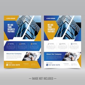 Modello di progettazione di volantini per poster aziendali