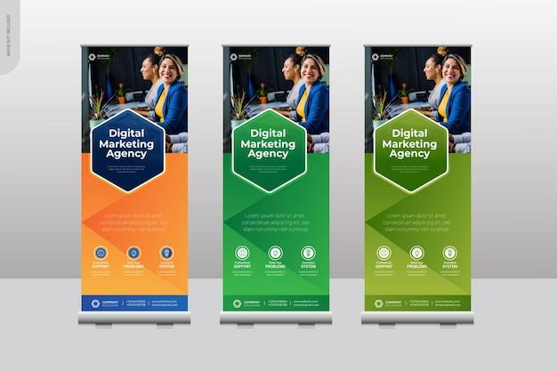 Modelli di design banner roll up aziendale