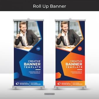 Set di banner roll up aziendale