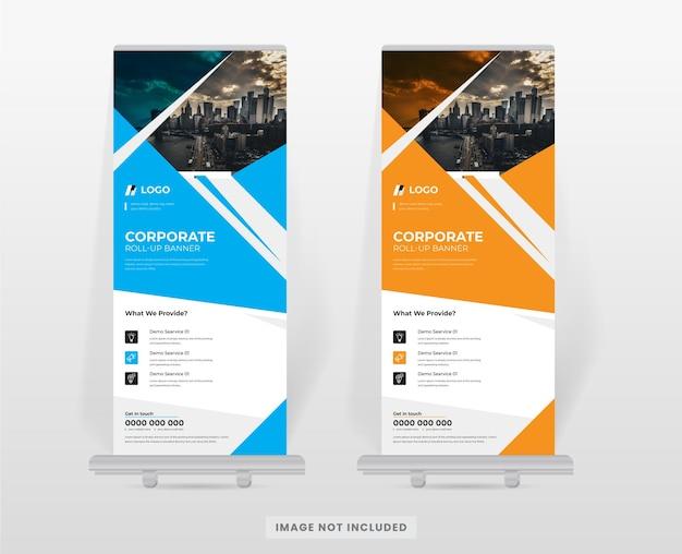 Modello di progettazione del supporto per banner roll up aziendale