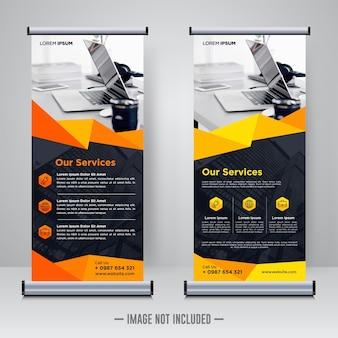 Modello di banner rollup aziendale