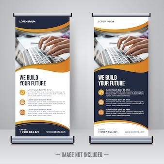 Modello di progettazione rollup aziendale o banner x