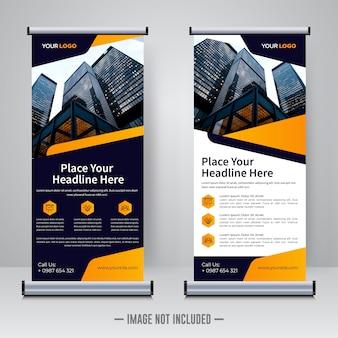 Rollup aziendale o modello di progettazione banner x