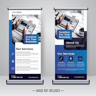 Rollup aziendale o modello di progettazione di banner x