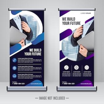 Rollup aziendale o modello di progettazione di banner x.