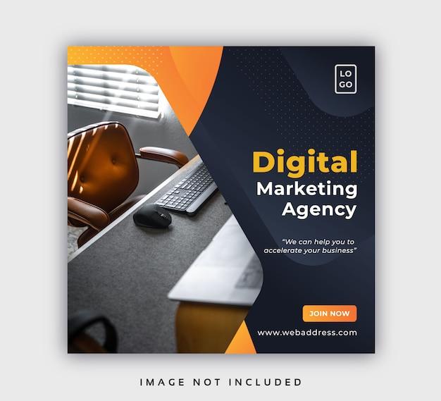 Modello di post banner web aziendale social media