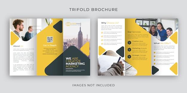 Modello di progettazione brochure aziendale ripiegabile