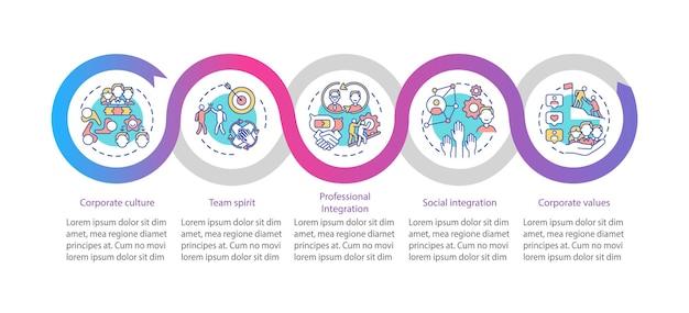 Modello di infografica valori aziendali