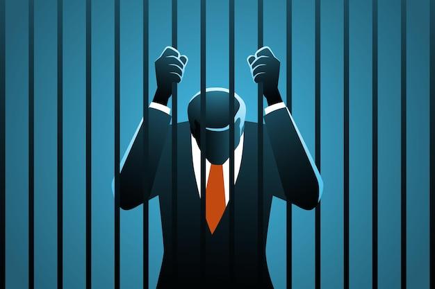 Uomo d'affari corrotto in carcere