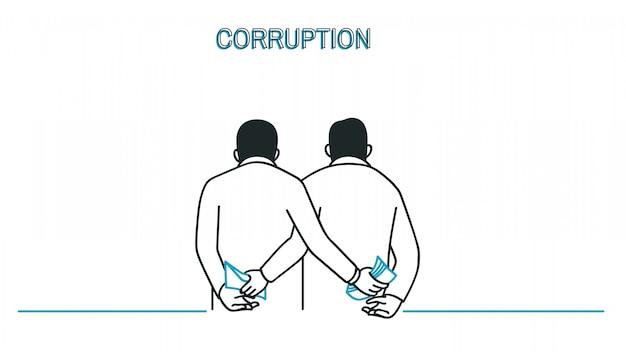Uomo d'affari di corruzione