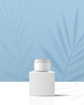 Sfondo cosmetico per il marchio del prodotto e la geometria della presentazione dell'imballaggio forma lo stampaggio del cerchio