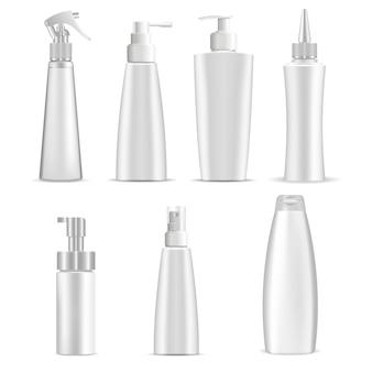 Bottiglie cosmetiche Vettore Premium
