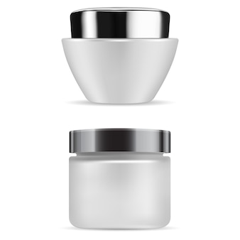 Contenitore in vetro opaco per bottiglia di crema cosmetica