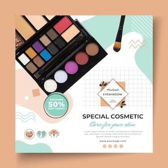 Volantino quadrato articoli cosmetici