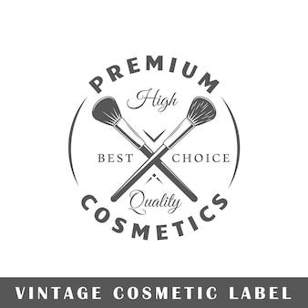 Etichetta cosmetica isolata su sfondo bianco