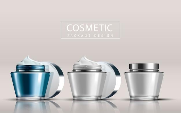 Illustrazione di design pacchetto cosmetico